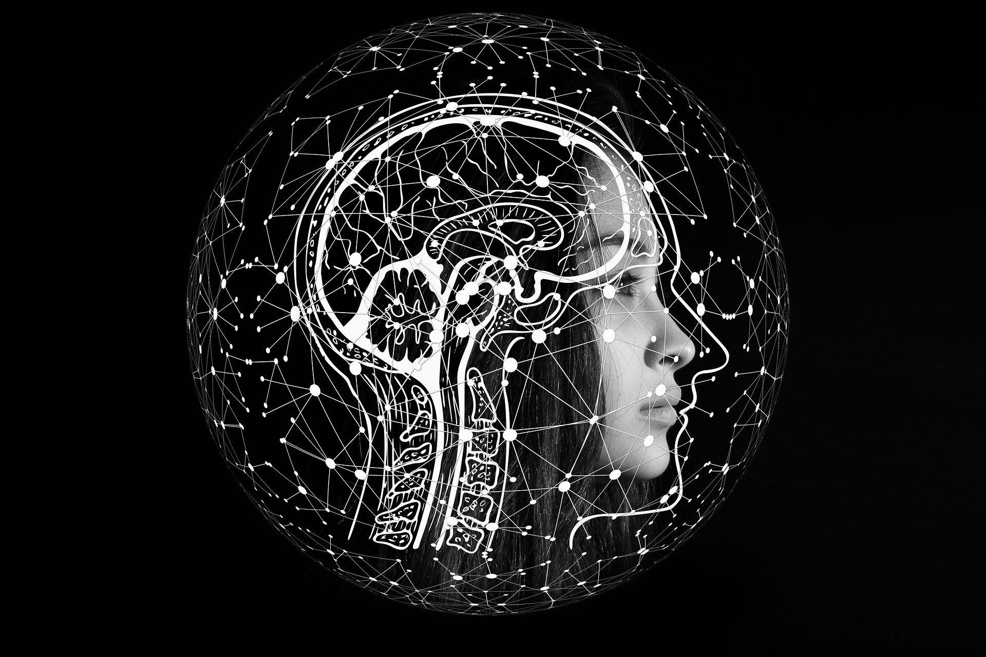 cerveau d'une jeune femme